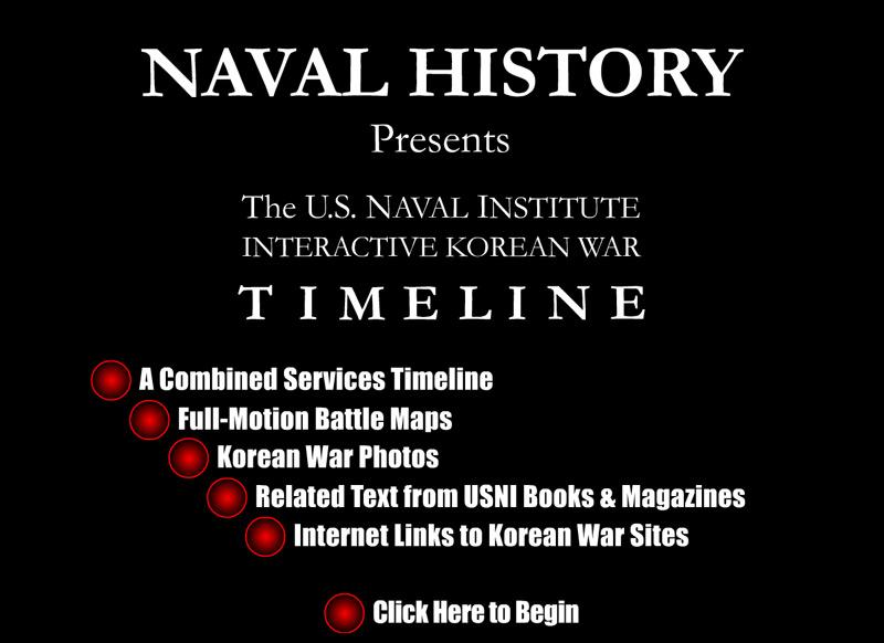 Interactive Korean War Timeline - Opening Screen