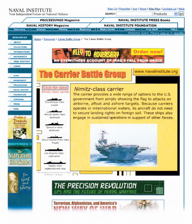Carrier Battle Group Interactive Infographic