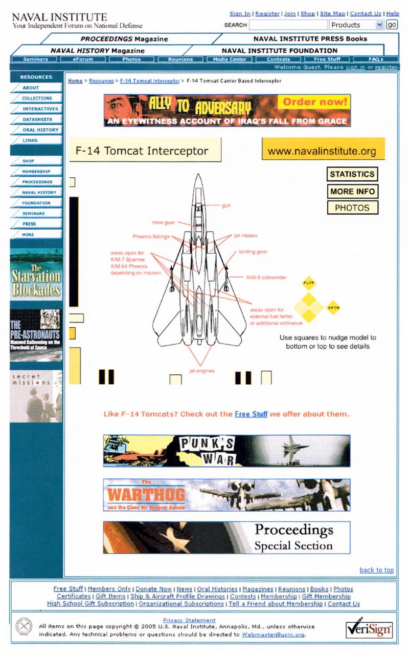 F-14 Tomcat Interactive Infographic