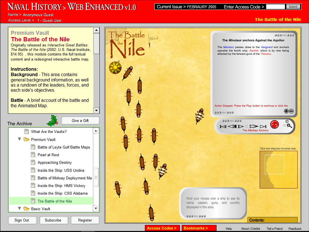 Interactive Battle of the Nile