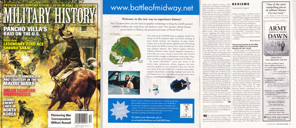 Military History Dec 2002 Full Page Color Ad