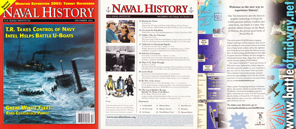 Naval History Dec 2002 Full Page Color Ad