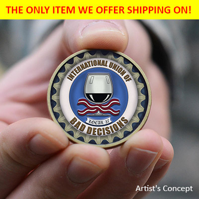 The concept for the challenge coin.